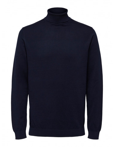 Selected Homme Berg Roll Neck Navy