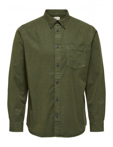 Selected Homme Klay Shirt Forest Night